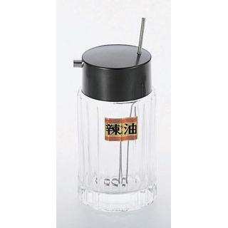 【まとめ買い10個セット品】マドラー付ラー油入れ #785 ガラス【 卓上小物 】 【ECJ】