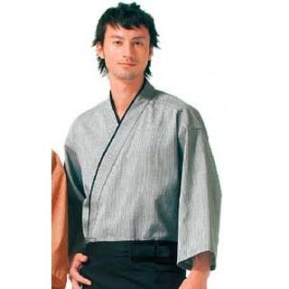 【まとめ買い10個セット品】作務衣(男女兼用)KJ0010-2 灰色 L【 ユニフォーム 】 【ECJ】