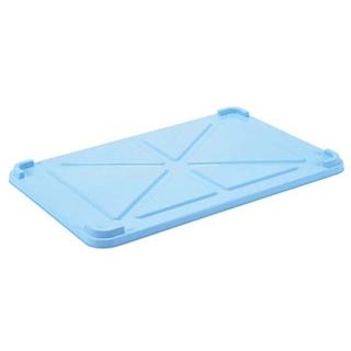 【まとめ買い10個セット品】 EBM PPカラー番重 蓋 小 ブルー(サンコー製) 【ECJ】【 運搬・ケータリング 】