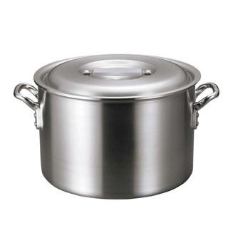 【まとめ買い10個セット品】 【業務用】アルミ バリックス 半寸胴鍋(磨き仕上げ)33cm