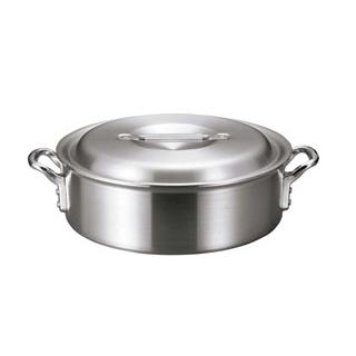 【まとめ買い10個セット品】 【業務用】アルミ バリックス 外輪鍋(磨き仕上げ)33cm