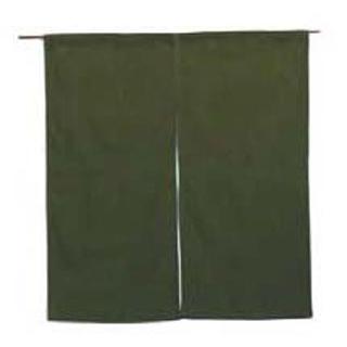 【まとめ買い10個セット品】 【業務用】綿麻無地 のれん 001-04 緑 850×900