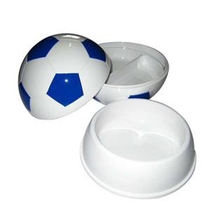 【まとめ買い10個セット品】 【業務用】お子様ランチ皿 サッカーボール 大(仕切付)ブルー