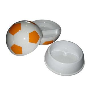 【まとめ買い10個セット品】 【業務用】お子様ランチ皿 サッカーボール 大(仕切付)イエロー