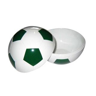 【まとめ買い10個セット品】 【業務用】お子様ランチ皿 サッカーボール 小(仕切なし)グリーン
