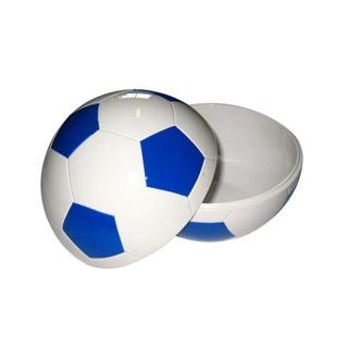 【まとめ買い10個セット品】お子様ランチ皿 サッカーボール 小(仕切なし)YB-SRSB ブルー【 和・洋・中 食器 】 【ECJ】