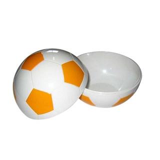 【まとめ買い10個セット品】 【業務用】お子様ランチ皿 サッカーボール 小(仕切なし)イエロー