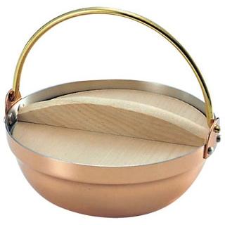 【まとめ買い10個セット品】 【業務用】銅 段付ツル付鍋(木蓋付)1人用 S-5003 14cm