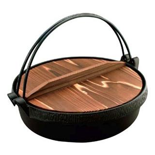 【まとめ買い10個セット品】IK 鉄鋳 Sすき鍋 木蓋付 22cm 101170【 卓上鍋・焼物用品 】 【ECJ】