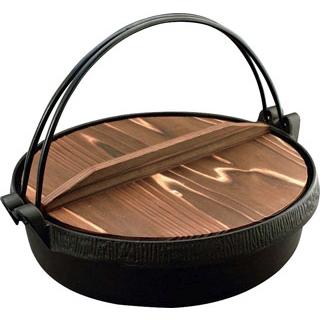 【まとめ買い10個セット品】IK おもてなしグルメすき鍋 木蓋付 26cm 120012【 卓上鍋・焼物用品 】 【ECJ】