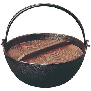 【まとめ買い10個セット品】トキワ 鉄 電磁やまが鍋 423 21cm 杓子付 茶ホーロー【 卓上鍋・焼物用品 】 【ECJ】