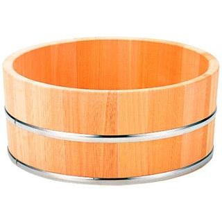 【まとめ買い10個セット品】 【業務用】さわら 風呂桶 ステンタガ 6-481-8 φ225×115