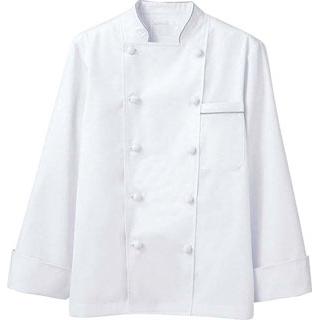 【まとめ買い10個セット品】 【業務用】コックコート 6-971 白/グレー M