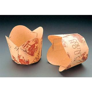 【まとめ買い10個セット品】 【業務用】チューリップカップ(100枚入)茶 M-305 φ45