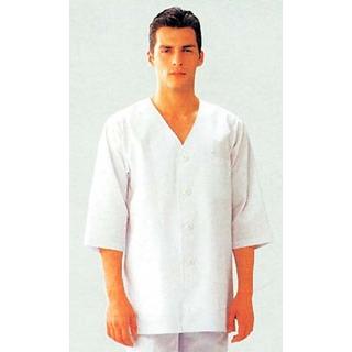 【まとめ買い10個セット品】 男性用衿無し七分袖(調理服)AA321-8 L 【ECJ】【 ユニフォーム 】