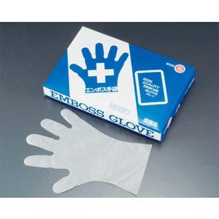 【まとめ買い10個セット品】 【業務用】エンボス 手袋 #30 化粧箱(五本絞り)180枚入 L 30μ