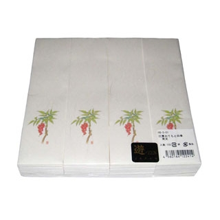 【まとめ買い10個セット品】 【業務用】遊膳 おてもと・四季 箸袋(100枚入)HB-S-01 南天