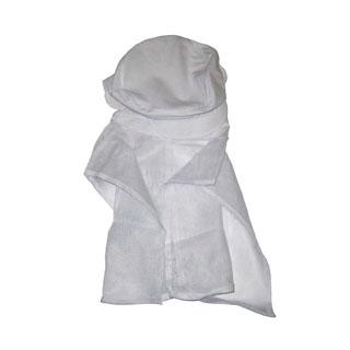 【まとめ買い10個セット品】頭巾帽子 ケープ付タイプ 9-1011 白 M【 ユニフォーム 】 【ECJ】