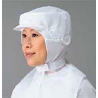 【まとめ買い10個セット品】 【業務用】頭巾帽子 ケープ付タイプ 9-1011 白 LL