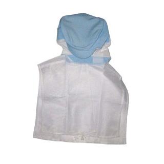 【まとめ買い10個セット品】 【業務用】頭巾帽子 ケープ付タイプ 9-1012 ブルー M