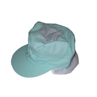 【まとめ買い10個セット品】頭巾帽子 八角タイプ 9-1067 グリーン フリーサイズ【 ユニフォーム 】 【ECJ】
