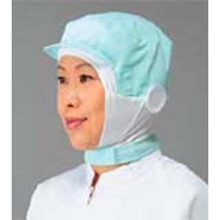 【まとめ買い10個セット品】 【業務用】頭巾帽子 ショートタイプ 9-1018 グリーン LL