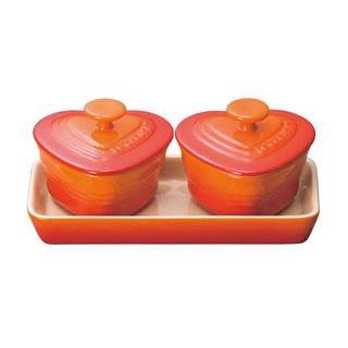 【まとめ買い10個セット品】 【業務用】ル・クルーゼ プチラムカンダムールセット 910223 オレンジ