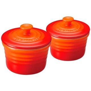 【まとめ買い10個セット品】 【業務用】ル・クルーゼ ラムカンS(フタ付)2個入 910026 オレンジ(09)