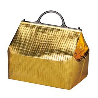 【まとめ買い10個セット品】 【業務用】保冷・保温バッグ エスケークール ゴールド(10枚入)PT-7