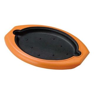 【まとめ買い10個セット品】 【業務用】ステーキ台 プレス陶板用 ブラウン M44-077