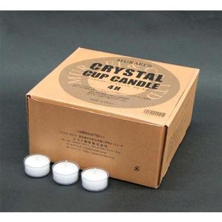 【まとめ買い10個セット品】 クリスタルカップキャンドル 4H(125個入) 【ECJ】【 卓上小物 】