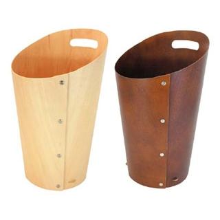 【まとめ買い10個セット品】 【業務用】木製 ダストボックス L ブラウン 102022