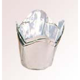 【まとめ買い10個セット品】 【業務用】アルミケース チューリップ型(100枚入)55号 銀
