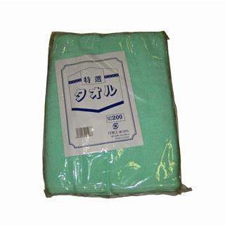 【まとめ買い10個セット品】 【業務用】カラータオル 片平地付 #200(12枚入)グリーン 340×860