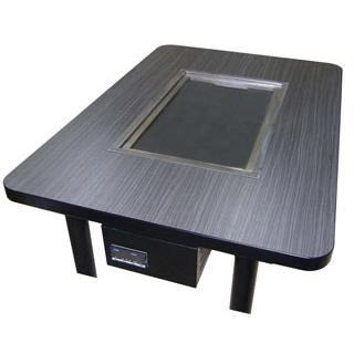 【業務用】鉄板重層加熱式電気グリドルテーブル KTE-128E(洋卓式4人用)【 メーカー直送/代金引換決済不可 】