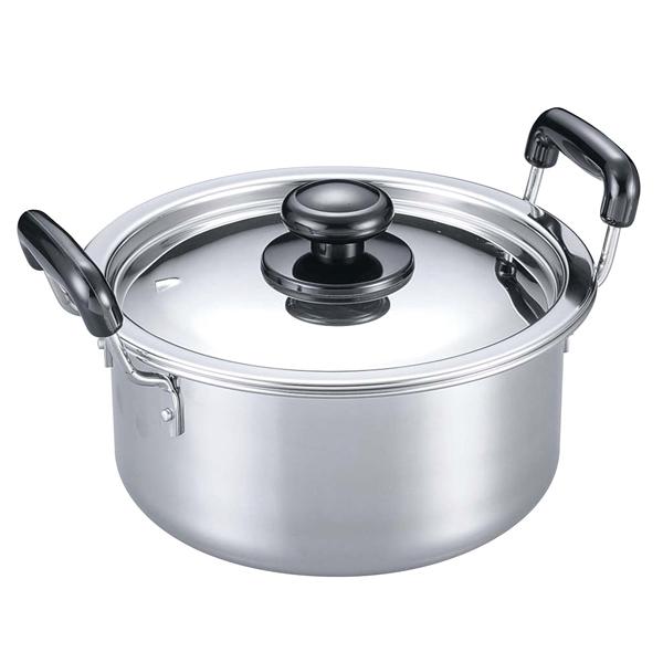 【まとめ買い10個セット品】 【業務用】EBM モリブデン 実用鍋(両手)24cm