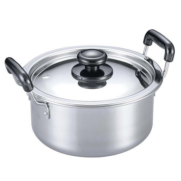 【まとめ買い10個セット品】 【業務用】EBM モリブデン 実用鍋(両手)27cm