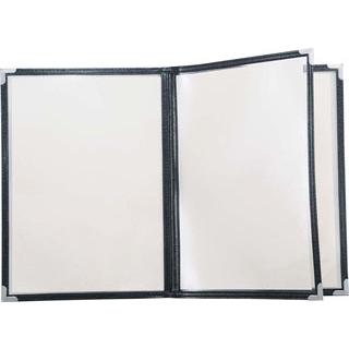【まとめ買い10個セット品】 【業務用】クイックメニューブック QM-40 6ページ ブラック