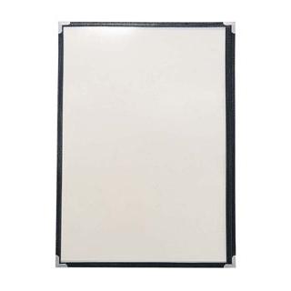 【まとめ買い10個セット品】 【業務用】クイックメニューブック QM-300 6ページ ブラック