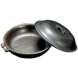 【まとめ買い10個セット品】 【業務用】陶板鍋 黒 T-27