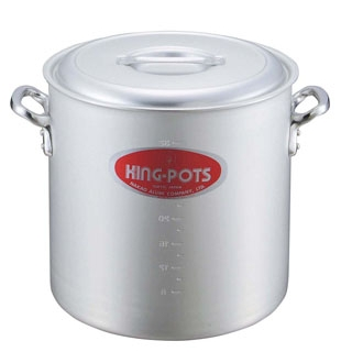 【まとめ買い10個セット品】 【業務用】キングアルマイト 寸胴鍋(目盛付)18cm
