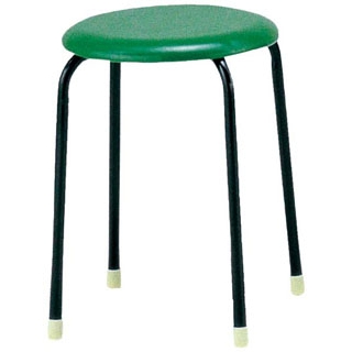【まとめ買い10個セット品】 【業務用】丸椅子 C-19(10脚入)ブルー 【 メーカー直送/代金引換決済不可 】