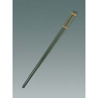 リサイクル箸 金ライン 25cm 白