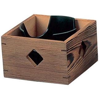 【まとめ買い10個セット品】 【業務用】コンロ木枠 焼杉 大 5号 飛騨コンロ用(21267)