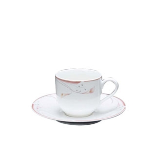 【まとめ買い10個セット品】 【業務用】フラワーピンク コーヒーカップ OFM01-305