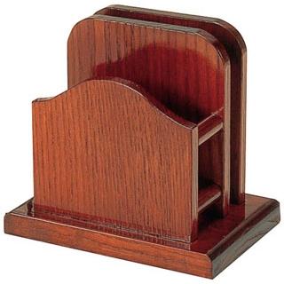【まとめ買い10個セット品】 【業務用】木製 山型 メニュー・ナフキン立(15191)