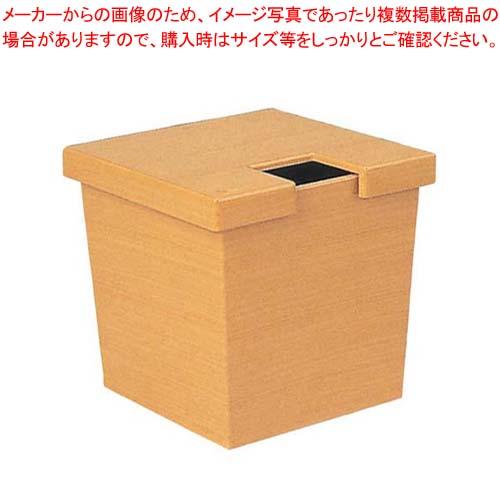 【まとめ買い10個セット品】 【業務用】ガリ入れ 角 白木塗(トング別)ABS樹脂