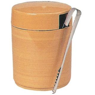 【まとめ買い10個セット品】丸 ガリ入れ トング付 白木 ユリヤメラミン 5-939-10.13【 和・洋・中 食器 】 【ECJ】