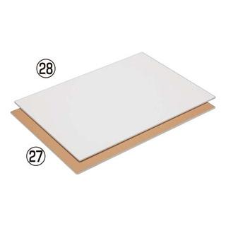 【まとめ買い10個セット品】 【業務用】取り板 アルミンハードタイプ CTL-51100 600型(白)600×400×4.6