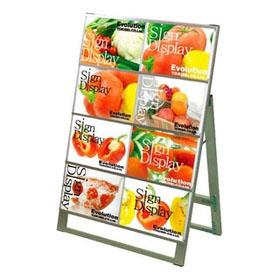 【業務用】カードケーススタンド看板 B4ヨコ 片面8枚 CCSK-B4Y8K【 メーカー直送/後払い決済不可 】